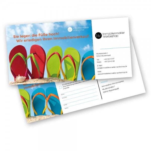 Akquisekarte Sommer Flip Flops