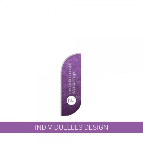 Beachflag KONVEX | Größe S | Höhe 300 cm