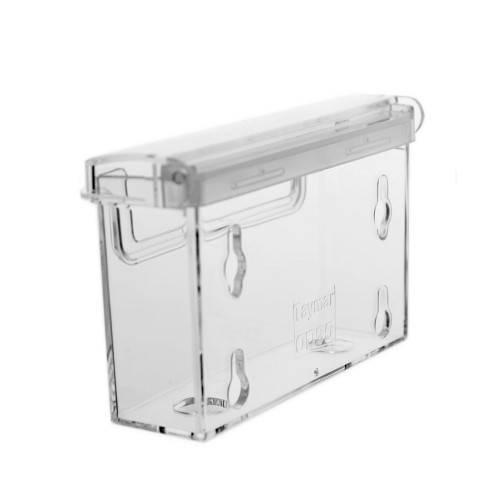Visitenkartenbox mit Deckel, Acrylglas, querformat