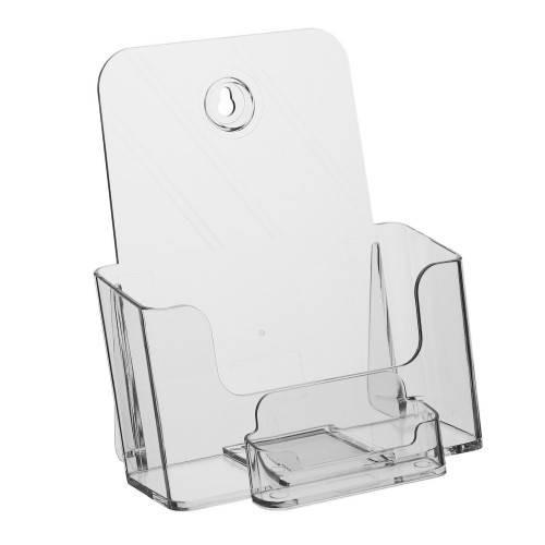 Prospekthalter | Flyerhalter DIN A5 mit Visitenkartenfach
